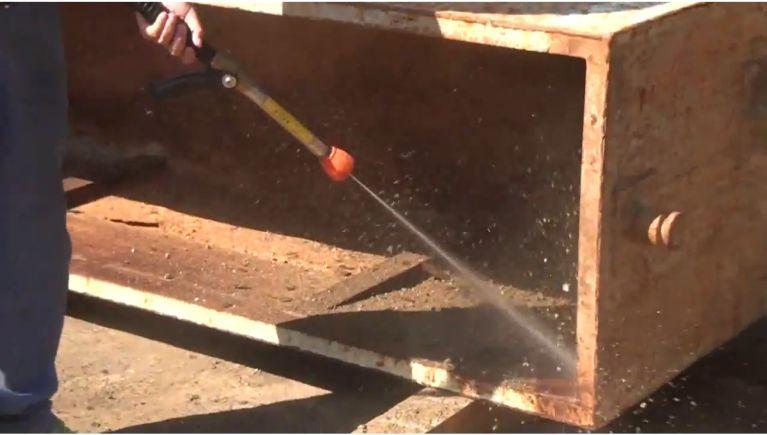 水タンク/ノッチタンクの洗浄
