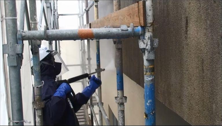 改修工事の外壁洗浄