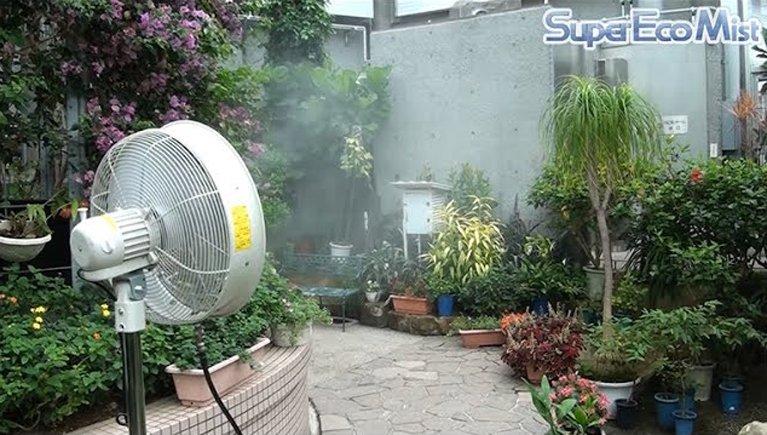 植物園の暑さ対策と加湿