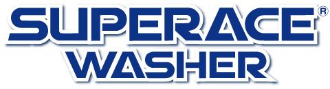 【Super Ace Washer】のブランドデザインロゴ