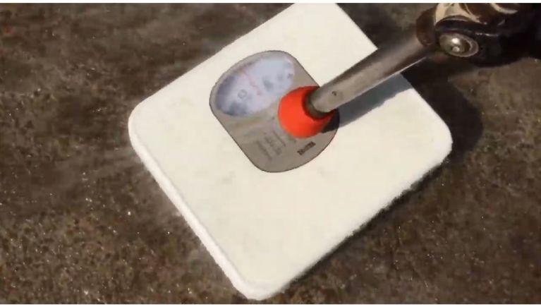 高圧洗浄機の圧力を体重計で測ってみた