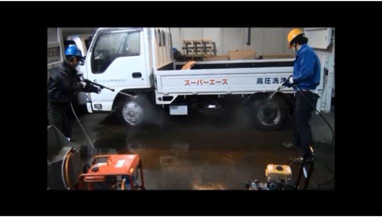 多水量タイプVS高圧力タイプ 泥汚れ洗浄対決!
