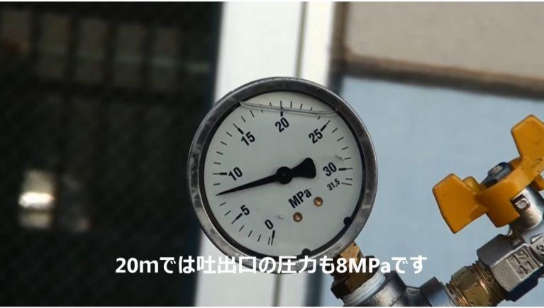 高圧ホースの延長による圧損についての実験